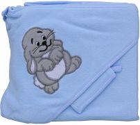 Froté ručník - Scarlett zajíc s kapucí - modrá