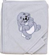 Froté ručník - Scarlett zajíc s kapucí - šedá