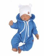 Z&Z Dětský teplákový overálek s kapucí, modrý, vel.56