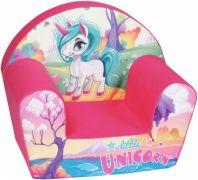 Delsit Dětské křesílko, pohovka - Unicorn pink