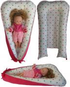 Hnízdečko pro panenky - růžové hvězdičky