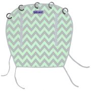 Clona Reversible Mint/Grey Chevron