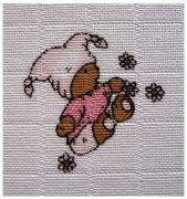 Libštátské Pleny 70x70 cm - potisk Medvídek růžový - 5ks