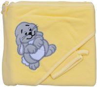 Froté ručník - Scarlett zajíc s kapucí - žlutá