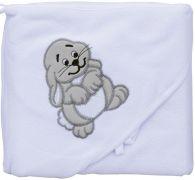 Froté ručník - Scarlett zajíc s kapucí - bílá