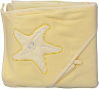 Froté ručník - Scarlett hvězda s kapucí - žlutá